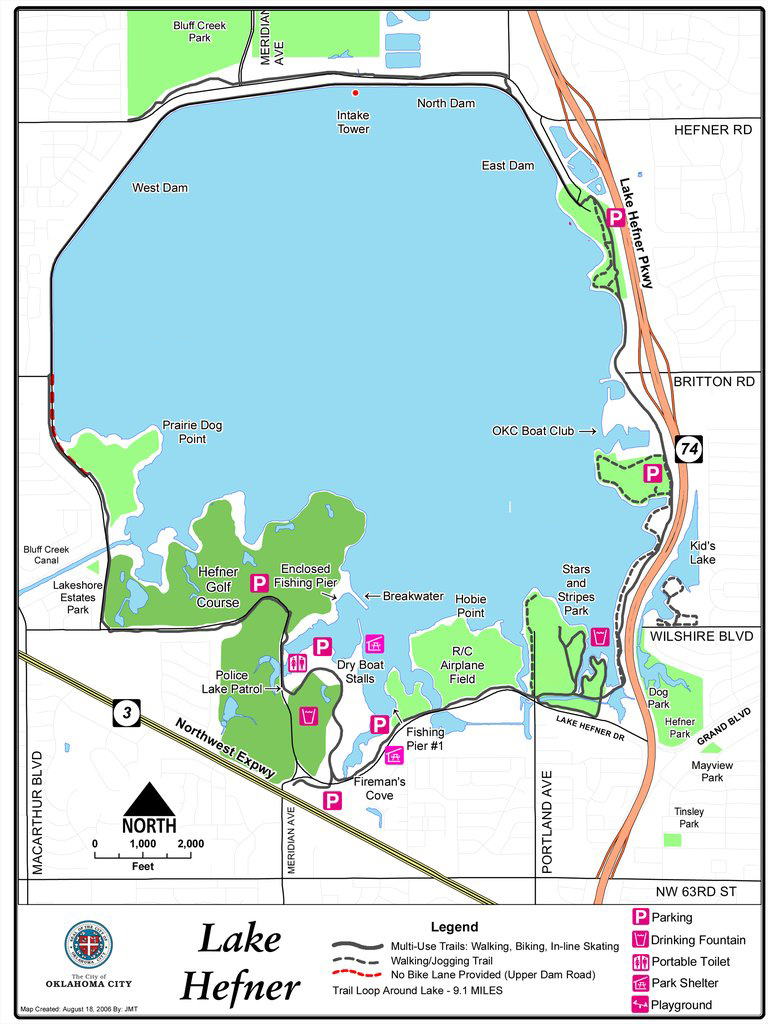 Lake Hefner Oklahoma City Audubon Society - Oklahoma map of lakes